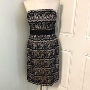 White House black market lace formal dress